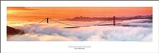 Award Winning Panoramic Art Print Poster #2- San Francisco Golden Gate Bridge At Dawn (Panorama Photograph)