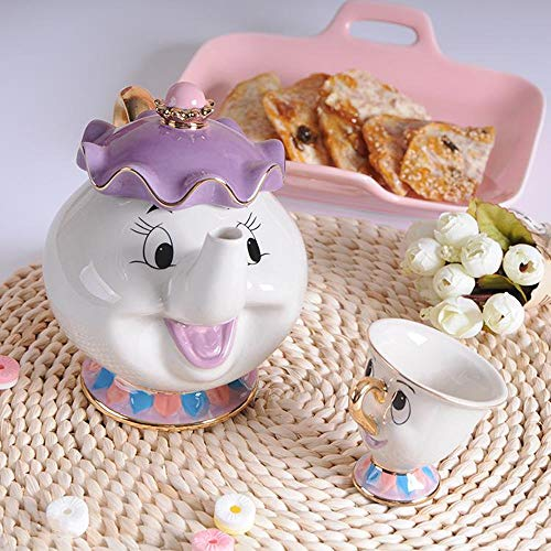 Lucky House Neue Cartoon Beauty and Beast Teekanne Cup Lady Lady Cup Kartoffel Teekanne Cup Set von niedlichen (1)