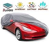Leader Accessories Funda para Coche 2020 Versión Mejorada Lona Cubierta Exterior de Sedan Resistente al Polvo Rasguño Transpirable (574x160x127cm)