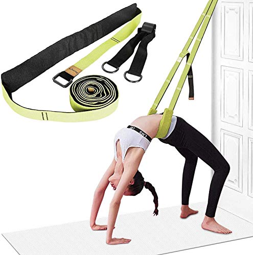 Yoga Strap for Stretching, Leg Stretcher Backbend Assist Trainer Pilates Equipment for Home Workouts Back Waist Leg Flexibility Trainer Strap for Yoga Pilates Ballet Dance Splits Gymnastics (Green)