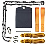 48 Inch 62 Teeth High Reach Tree Limb Hand Rope Chain Saw Outdoor Pocket Gardening Chainsaw for Camping, Hunting, Tree Cutting, Hiking, Backpacking (48 inch 62 teeth Model01)