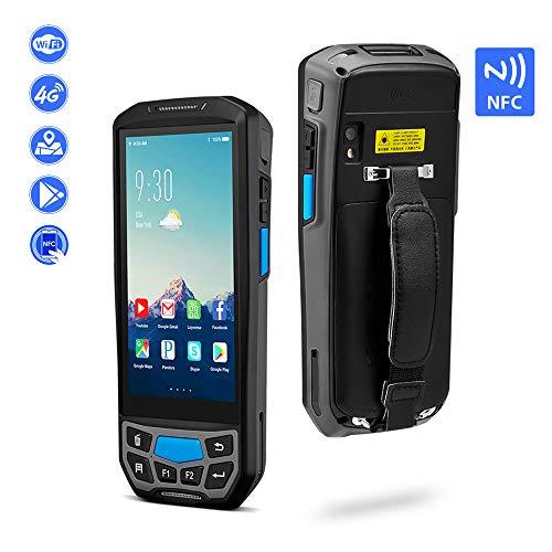 MUNBYN Scanner portable robuste Android 7.0 ou scanner de codes à barres pour terminal IP65 avec chargeur et écran tactile WiFi BT GPS 13,56 MHz 2D Honeywell + NFC