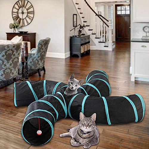 Túnel de Juguete para Gatos de asterisknew, Plegable, para Jugar en la Tienda de campaña