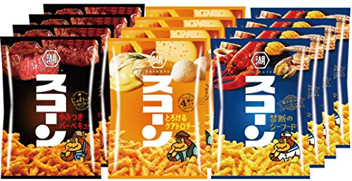 【Amazon.co.jp限定】 湖池屋 スコーン アソートパック 3種