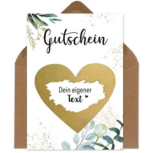 Rubbelkarten zum selber beschriften - Gutschein - Rubbellos für eigenen Text Geschenke Geschenkideen als Geschenk Gutschein zum Geburtstag