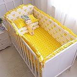 Nursery Cradle-Dekor-Karikatur-Krippe-Bettwäsche-Set für Junge Bett Auto & Bettlaken für Neugeborene Bed Schutz Fit für Bed 120x70cm