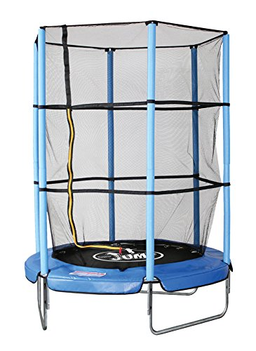 Sport1 Tappeto Elastico Diametro 140 cm/Rete di Protezione Altezza 150 cm con zip ingresso/Impermeabile resistente ai raggi UV/Struttura in Acciaio/Facile Montaggio/Made in USA
