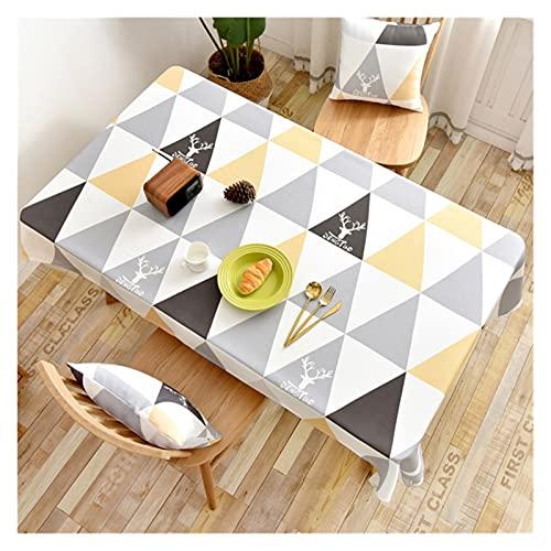 JSJJWSX Mantel de mesa rectangular con estampado impermeable, para decoración de fiestas en el hogar (color: 2, especificación: 135 x 220 cm)