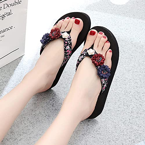 WUHUI Zapatos de Ducha Playa y Piscina Sandalias, Zapatos de Playa y Piscina Hombre, Pendiente de Verano con Zapatillas de Suela Gruesa, Zapatos de Playa, E_42