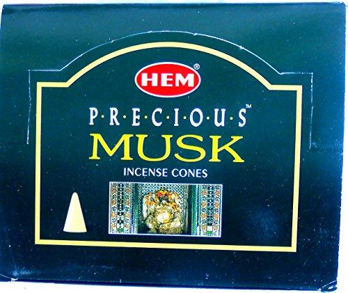 Conos de incienso conos de Hem Precious Musk Almizcle 12x 10unidades