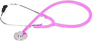 Manualks Estetoscopio CardiologíA Ligero, Analizador ClíNico Accesorios Estetoscopio De Doble Cabeza De Titanio con Cofre Convertible Adulto, PediáTrico Y Neonatal Infantil, Azul