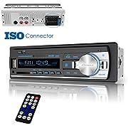 Bluetooth Car Stereo Receiver, Universal Single Din Car Radio with Remote Control, Dansrueus Car Stereos Audio In Dash FM Radio Receiver MP3 Player/USB/SD Card/AUX
