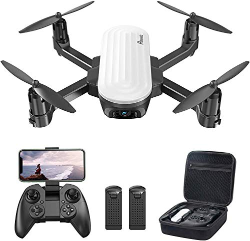 Potensic Elfin FPV Drone with 2K Camera for Kids, Optical Flow Positioning, Live Video RC Quadcopter with Gesture Control, Gravity Sensor, Trajectory Flight, One Key Operation, 2 Batteries and Carrying Case