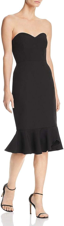 BCBG Max Azria Womens Hourglass Strapless KneeLength Cocktail Dress
