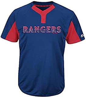 Texas Rangers Blank or Custom Back 2-Button Cool Base Jersey