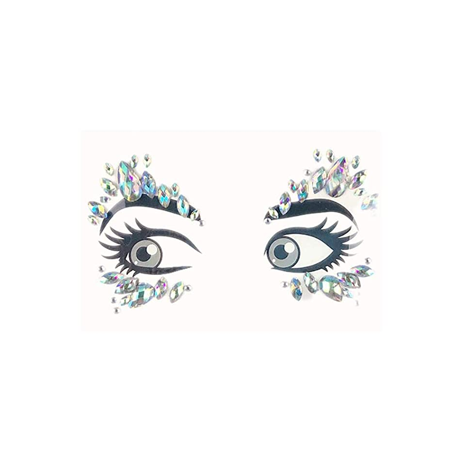 1PC Glitter Festival Party Face Makeup Gems Rhinestone Jewel Body Tattoo Stickers DIY Acrylic Resin Stickers Makeup Decoration 1