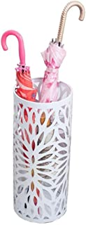 Yxsd Round Umbrella Stand Rack Metal Umbrella Holder, for Entryway, Home Office Decoration (Color : White)