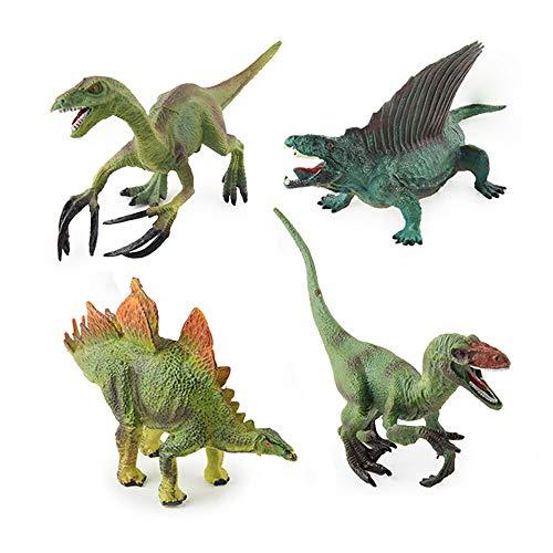 Hging 4 Pack 6'Jurrasic World Dinosaur Toys Set - Dinosaurio Educativo Juguete Playset para niños, niños, niños pequeños - Genial como Juguetes para niños Dinosaurios, favores de Fiesta de Dinosaurio