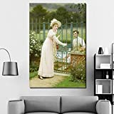 KWzEQ Retro Pintura al óleo impresión Sala de Estar decoración del hogar Moderno Arte de la Pared Pintura al óleo Poster Art,Pintura sin Marco,80x120cm