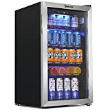 AstroAI Beverage Refrigerator and Cooler with Temperature Control - 120 Can Mini Fridge...