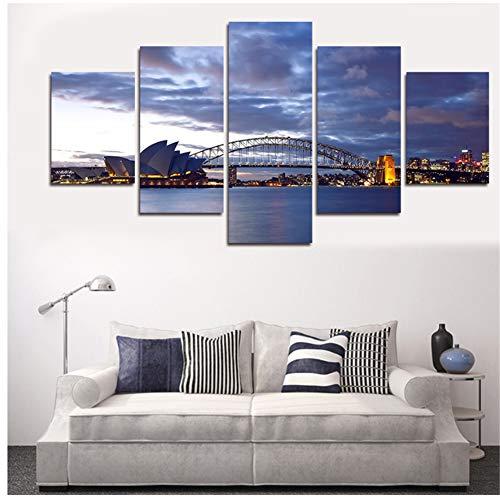 A&D Seascape Painting Modernes Zuhause Wandkunst Leinwand Segelbilder für Wand Wandbilder für Wohnzimmer Dekor -40x60 40x80 40x100cm Kein Rahmen