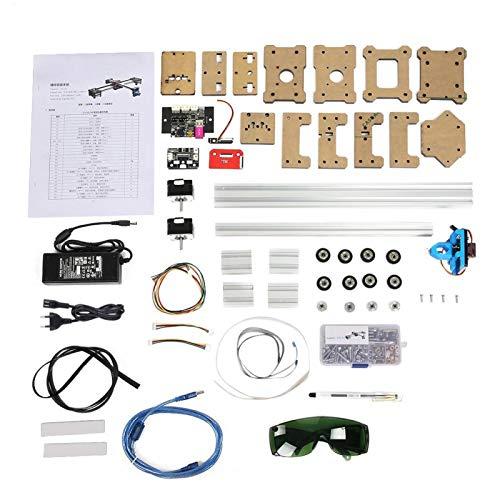 Plotter XY, 100-240VA 2 ejes DIY CNC XY Plotter Pluma Dibujo Máquina de firma Robot Laboratorio ensamblado XY Plotter Dibujo Robot Kit(Enchufe de la UE)