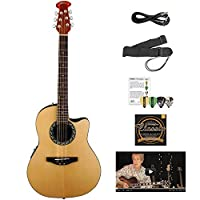 Ovation AB24-4-KIT-1 Applause Balladeer Acoustic-Electric Cutaway Guitar with Chromacast Accessories Natural [並行輸入品]