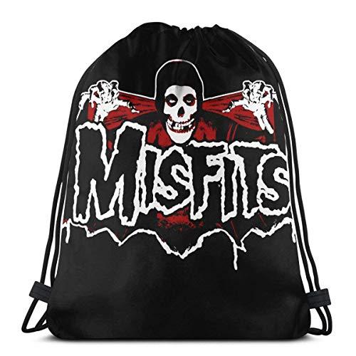 XCNGG Bolsa con cordón Bolsa con cordón Bolsa portátil Bolsa de Gimnasio Bolsa de Compras The Misfits Unisex Sports Drawstring Backpack Gym Bag