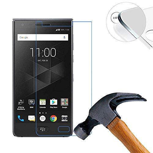 LUSEE 2 x Pack Verre Trempé Protège pour Blackberry Motion / BBD100-1 / BBD100-2 / BBD100-3 5.5 Pouce RÉSISTANT Indice Dureté 9H 2.5D 0,3mm (Couvrir Uniquement la Partie Plate)