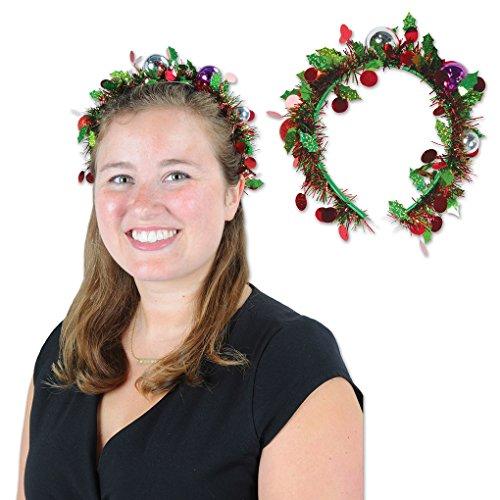 Adult size Holiday Tinsel Garland Headband - Christmas Holiday Wear
