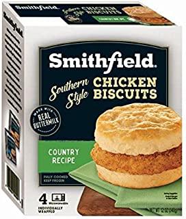Smithfield, Country Recipe Southern Style Chicken Biscuits Fully Cooked Breakfast Sandwiches, 12 oz (frozen)