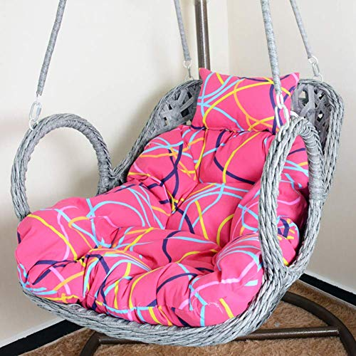 COLOM Swing Hanging Basket Seat Cushion,Thick Hanging Egg Hammock Chair Cushion Large Seat Cushion Pad Wicker Rattan Chair Pad Without Chair Stand D 39x33x3inch (Color : C)