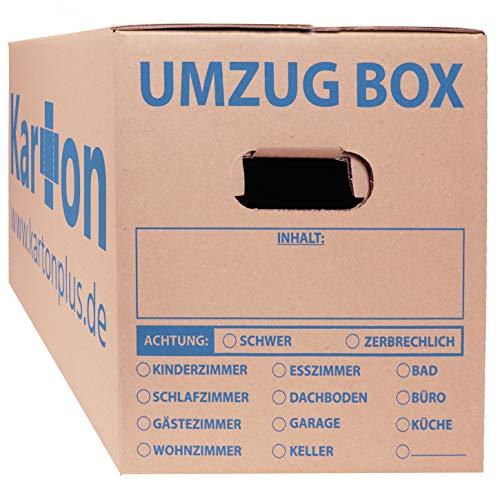 Umzugskartons 20 Stück Größe 620 x 300 x 330 mm doppelter Boden Umzugskiste Umzug Karton Ordnerkarton