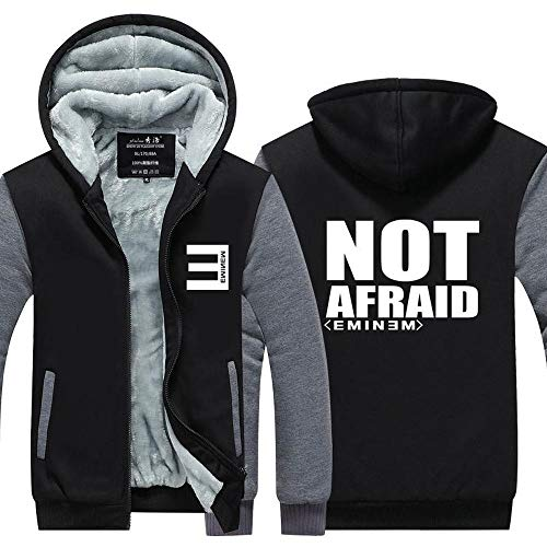 Unisex Hoodie Sudadera Chaqueta para Eminem Impreso Cálido Hip Hop Sweater Sweater Abrigo Zip Basetall Uniforming Splicing De Manga Larga Jersey - Adolescente Regalo H-Large