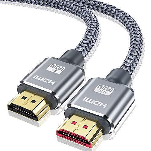 Câble HDMI 4K 10m- Snowkids Câble HDMI 2.0 Haute Vitesse par Ethernet en Nylon Tressé Supporte 3D/ Retour Audio - Cordon HDMI pour Lecteur Blu-Ray/ PS3/ PS4/ TV 4K Ultra HD/Ecran