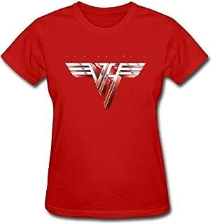 Duanfu Van Halen II Logo Recreation Women's Cotton Short Sleeve T-Shirt