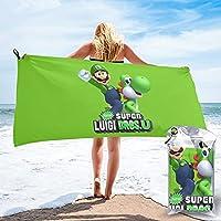 ス?ーパ?ーマ?リ?オ 超やわらかい吸水性速乾性バスタオル、洗える携帯性、高い耐久性