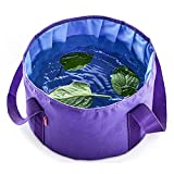 Collapsible Foot Bath Tub for Travel, Portable Foot Soak Spa Basin Multifunctional Folding Water Bucket for Soaking Feet, Washing Vegetables and Fruits, Outdoor, Camping (12L, Blue)