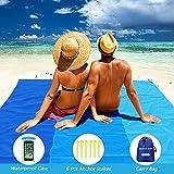 Best Beach Mats - Abida Outdoor Beach Blanket, 6.9' x 6.5' Review