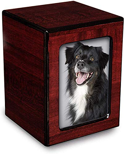 Chateau Urns - Society Collection - Photo Keepsake Cremation Urn - Memorial Box for Ashes - Small...