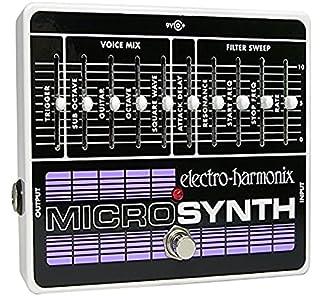 Electro Harmonix Micro Synthesizer Pedal for Electric Guitar, Silver (B001C1C8GK)   Amazon price tracker / tracking, Amazon price history charts, Amazon price watches, Amazon price drop alerts