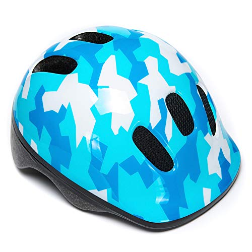 BeBeFun Intant/Toddler/Youth Size CPSC Certificated Kids Adjustable Bike/Cycling Helmet for Boy and Girl Sports Safety Helmet (Digital Blue, S(18.5'-20.5'))
