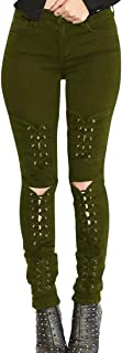 Keaac 女性レギンス高ウエスト弾性ストレッチスリム鉛筆パンツ包帯パンツ
