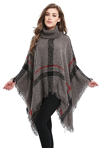 Bellady Ponchos for Women Girls Knitted Pullover Tassel...