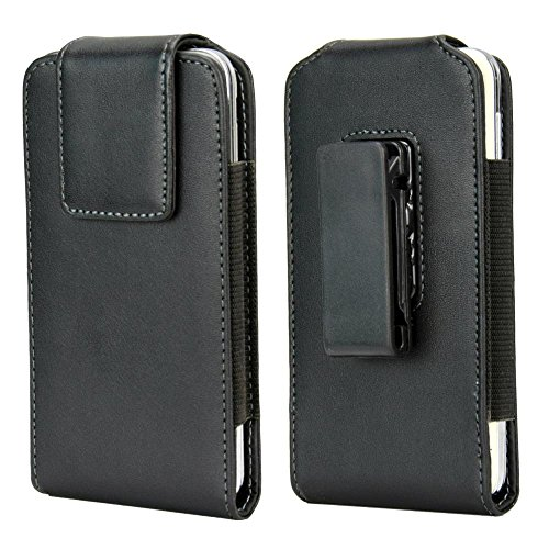 Kingsource Vertical Swivel Belt Clip Holster Pouch,Belt Case with Clip Holster Cover Cell Phone Pouch Holder Sleeve Compatible for Apple iPhone 5 5S 5C SE Fits with A Naked Phone Or with Skin Case