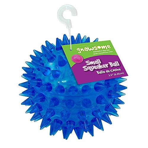Bola de brinquedo para cachorro com cravos termoplástica Gnawsome de 6,35 cm, pequena, promove a saúde dentária do seu animal de estimação, cores sortidas