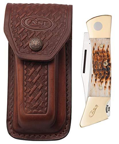 CASE XX WR Pocket Knife Amber Bone XX Changer W/Gut Hook Item #110 - (XX Changer) - Length Closed: 5 Inches
