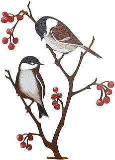 Nuryme Décoration de jardin en métal avec motif d'oiseaux - Pour la maison, le jardin, la cour