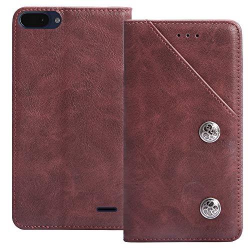 YLYT Flip Rot Schutz Hülle Hülle Für Archos Core 55S 5.45 inch Etui Leder Tasche Handyhülle Hochwertiges Stoßfeste Kartenfach Cover
