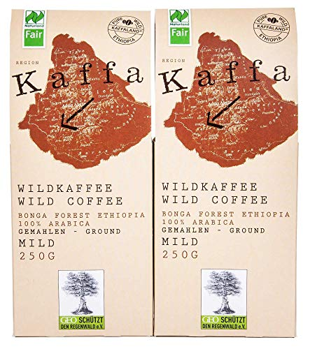 Original Food Kaffa Wildkaffee mild gemahlen 2er-Pack 2x250g bio